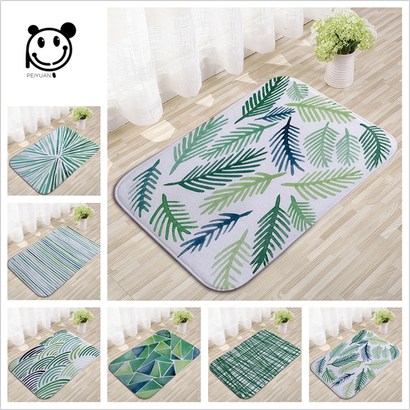 PEIYUAN Abstract Mats 40*60cm Light Flannel Dustproof Colorful Psychedelic Geometry Pattern Door Mats Water Absorption Rugs