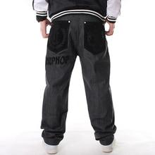2019 Harem Style Black Casual Jeans Men Fashion Baggy Hip-hop Long Pants Plus Size 30-46