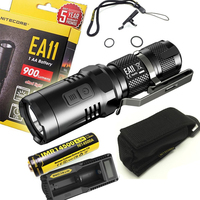 NITECORE EA11 EDC 900 lumens CREE LED Mini Flashlight Torch with Red Light with NI14500A 650mAh Battery and UM10 charger