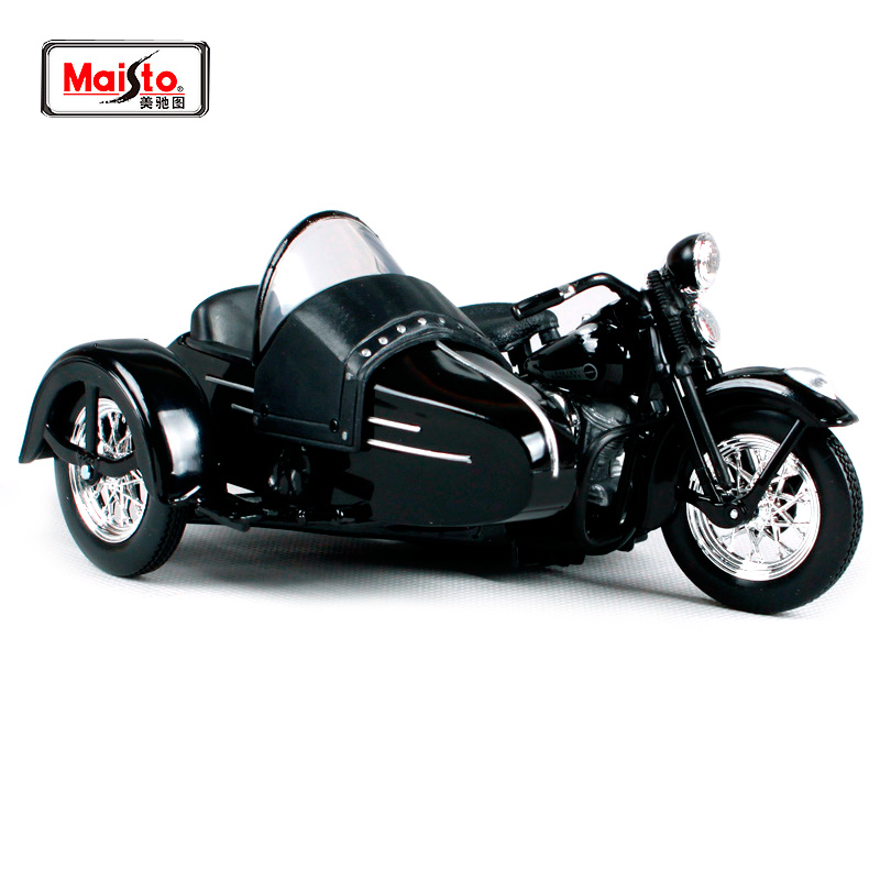 Maisto 1:18 Harley Davidson 1948 FL Panhead W Sidecar Diecast Motorcycle