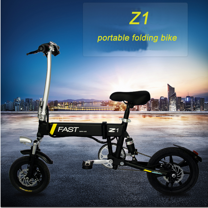 Sale 14inch folding electric bike mini lithium battery bicycle Portable adult  powered motorcycles Two-disc brakes electric bicycle 1
