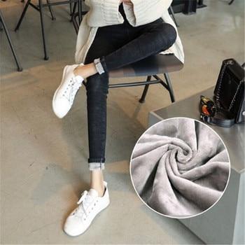 High Waist Warm Jeans For Women Blue Female Black Winter Jeans Women Denim Pants Jean Femme 2018 Ladies Trousers Warm Pants 2