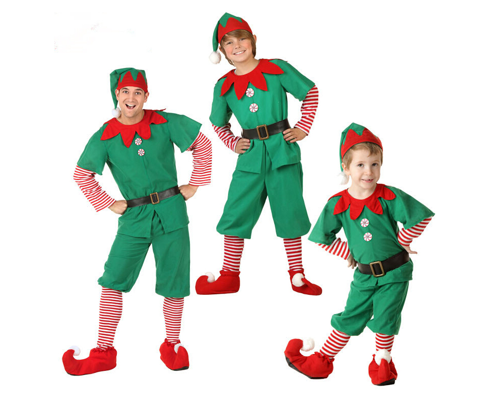 Christmas Tree Costume Kids Adult Family Cosplay Stage Performance Child Gift Halloween Masquerade Party Fancy Dress Boys Girls