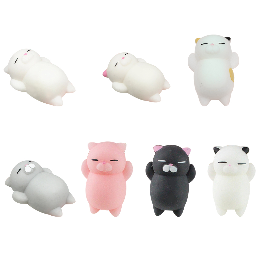 New Mini Soft Cute Cat Pattern Wipes Stress Ball Squeeze Rising Funny Toys Pressure Relief Toys