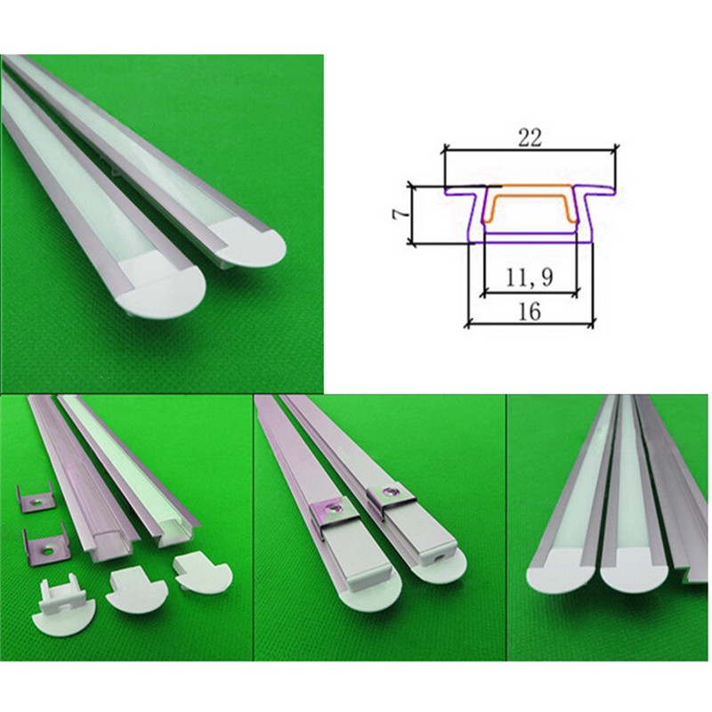 10-40pcs/lot 80inch/ 2m length aluminum profile,2m led bar light for 3528 5050 5630 12V/24V strip ,hard strip built in channel free shipping super wide u shape aluminum anodized profile for led strips with cover and end caps for dual row led strip