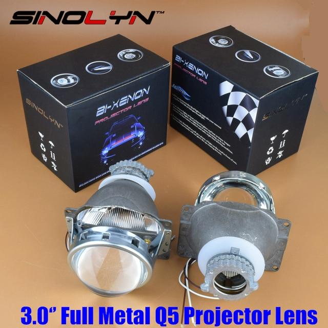 Car Styling External Lights Mini Bi xenon projectors 3.0 D2S, Full Metal HID Q5 Projector