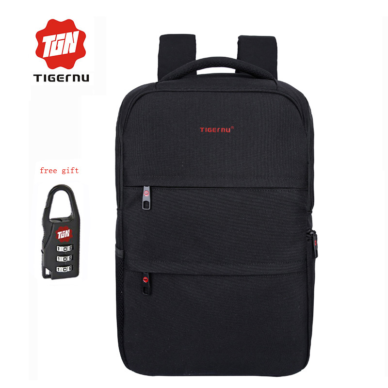 Tigernu Notebook Laptop Backpack 15.6 inch School bag for teenagers men business travel Backpack Book bag Mochila free gift large 14 15 inch notebook backpack men s travel backpack waterproof nylon school bags for teenagers casual shoulder male bag