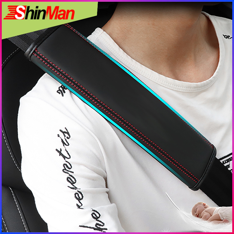 ShinMan Leather CAR Seat belt pad shoulder Safety cover For Jeep Infiniti Ford Honda Land rover