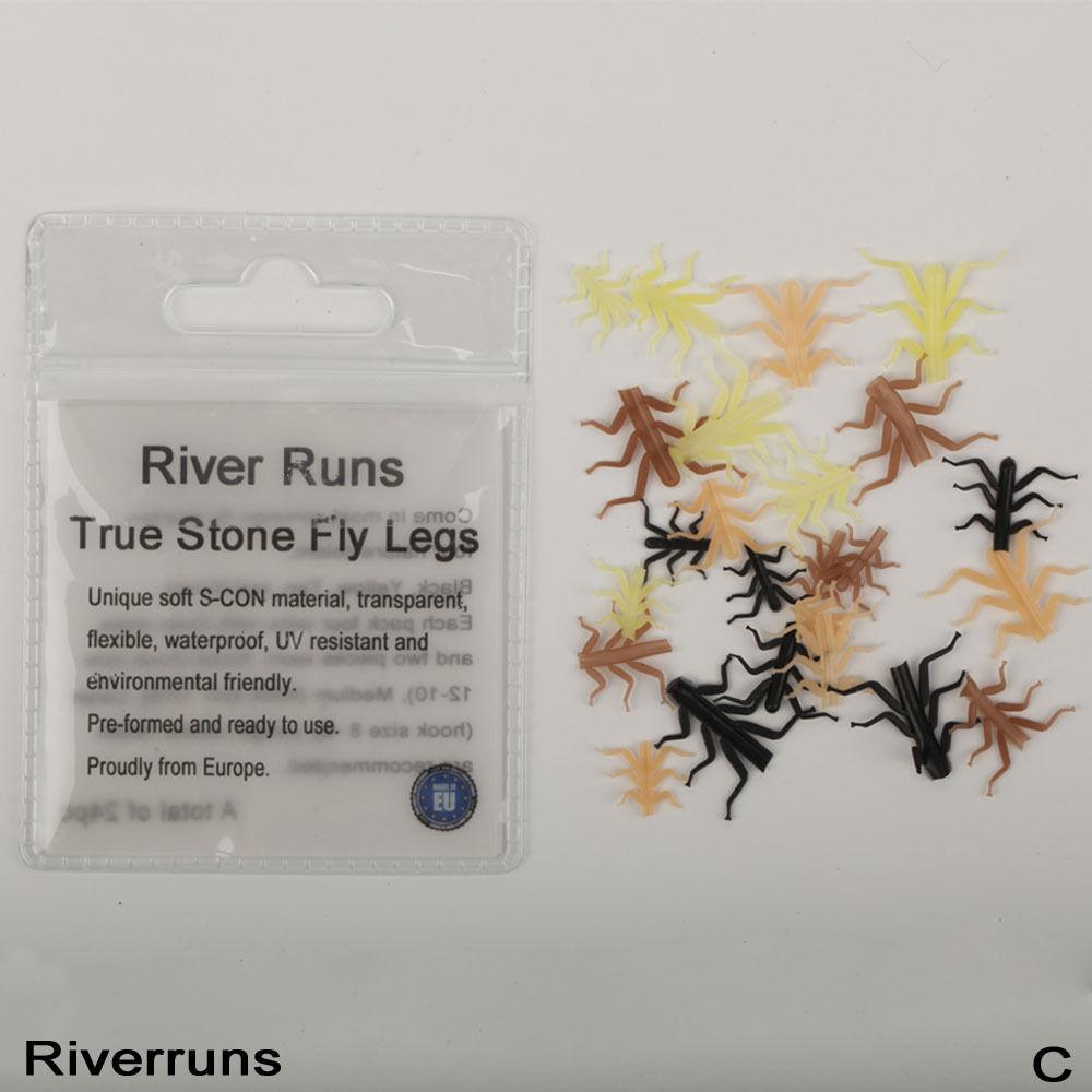 Riverruns Realistic Flies 24pcs/Bag Stone Fly Nymph Flies Leg 4 Color 3 Size