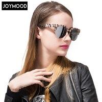 JOYMOOD 2017 Women Brand Designer Vintage Sunglasses Woman Semi-rimless Rivet Round Sun Glasses Top Quality Oculos De Sol