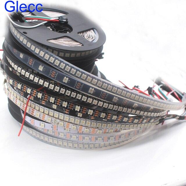 DC5V WS2812B 1m 5m 30/60/144 pixels/leds/m Smart led pixel strip,Black/White PCB,WS2812 IC;WS2812B/M,IP30/IP65/IP67