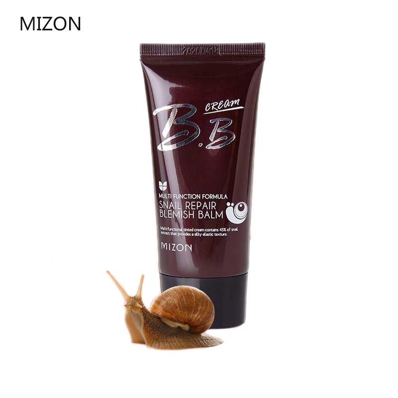 MIZON Snail Repair Blemish Balm BB Cream 50ML Perfect Cover BB Cream Moisturizing Concealer Whitening Best Korea Cosmetics bb крем physicians formula super bb beauty balm cream цвет натуральный variant hex name ebc6b4