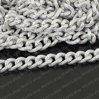 Wholesale 1 Meter Width 14mm Silver Aluminum Chains Accessories J M2998