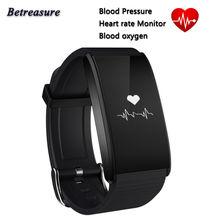 Betreasure BT58 смарт-браслет сердечного ритма Мониторы Фитнес трекер Smart группа носить Приборы для измерения артериального давления умный Браслет для IOS Android