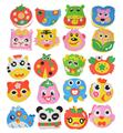 New Kids PuzzleToys Cartoon Handmade Bag Toys DIY Hand-sewn Animal Vegetable EVA Foam Puzzle Craft Educational Toys for Children