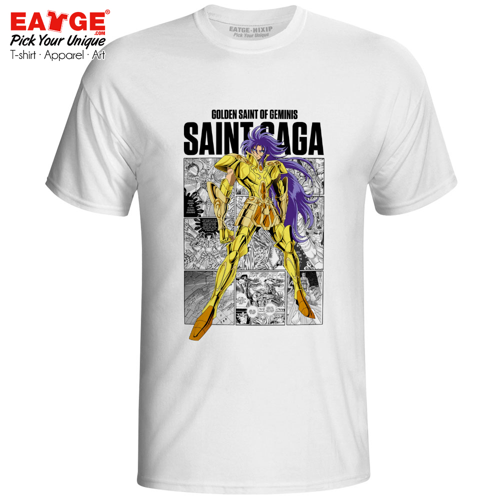 Gemini Saga T-shirt Gold Saints Anime Saint Seiya Knights Of The Zodiac Print Funny T Shirt Active Novelty Style Women Men Top