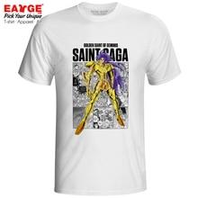 цена на Gemini Saga T-shirt Gold Saints Anime Saint Seiya Knights of the Zodiac Print Funny T Shirt Active Novelty Style Women Men Top