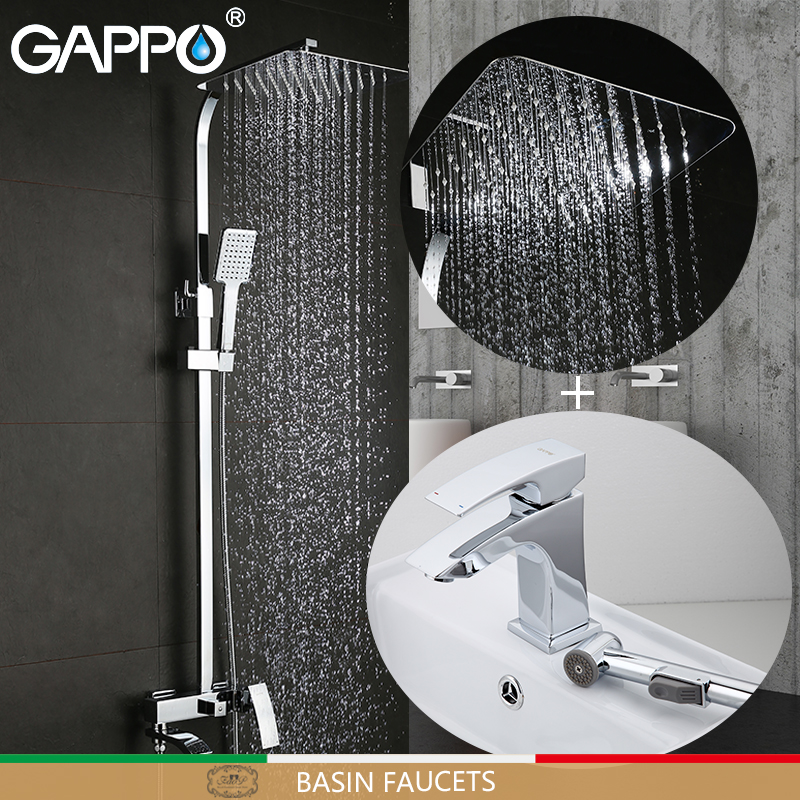 GAPPO Basin Faucets bathtub faucet bathroom faucet mixer basin faucets basin sink tap Sanitary Ware Suite