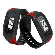 New Arrival Digital LCD Pedometer Run Step Walking Distance Calorie Counter Watch Bracelet Wholesale Price #200717