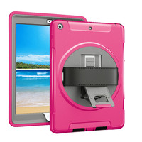 For New iPad 9.7 2017 2018 Case Soft TPU Shockproof Kids Proof Protector for iPad 5th 6th Generation Case with Hand Strap FTL01