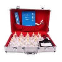 Новый Дизайн Kangci Вакуумное медицинское Банки Набор 15 Кубки Случай Алюминиевого Сплава Китайский массаж баночный набор подарочной коробке