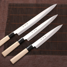 LDZ 8 inch sashimi knife with Scabbard Germany steel cleaver kitchen knives One-sided chef knives sushi knife free shipping