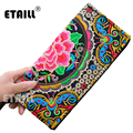 Ethnic Boho Indian Thai Embroidery Bags Embroidered Key Case Purse Cards Coin Phone Bag Brand Logo Clutch Monederos Etnicos
