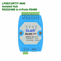 4 channels RS485 hub industrial isolation RS232 RS485 to 4 ports 485 converter extension relay ZLAN9440 serial device server