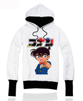 [XHTWCY] new 2019 Detective Conan hooded fleece thickening and velvet hooded jacket sweethearts outfit anime coat men and women