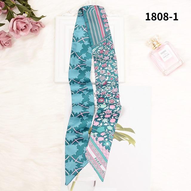 Long Skinny Scarf Silk Paris Letter Print Long Bag Scarf Handle Bag Ribbons Head Scarves Best Gift