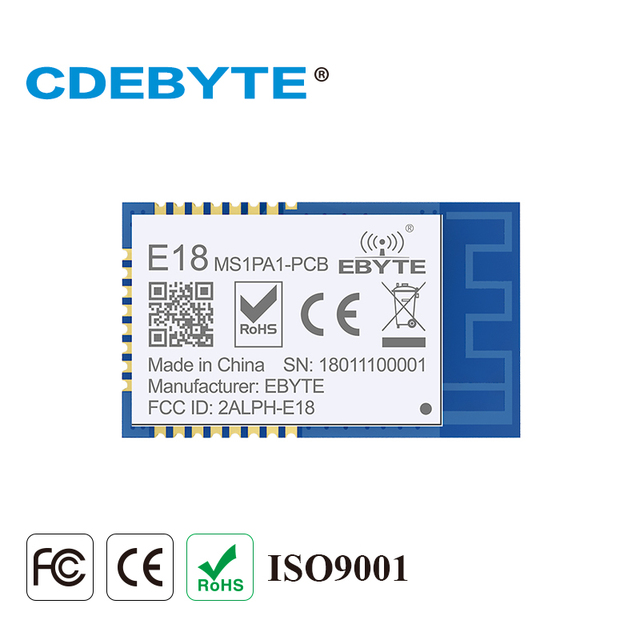 E18-MS1PA1-PCB Zigbee IO CC2530 PA 2.4Ghz 100mW PCB Antenna IoT uhf Wireless Transceiver Transmitter and Receiver RF Module