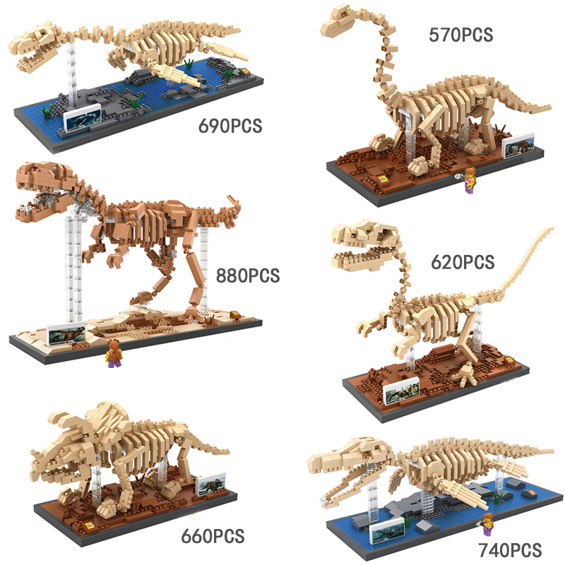 Loz mini diamond building block Jurassic Cretaceous dinosaur Fossil nanoblock model Tyrannosaurus Rex Triceratops Mosasaurs toys 2017 world famous architecture statue of liberty new york america usa united states mini diamond building block nanoblock model