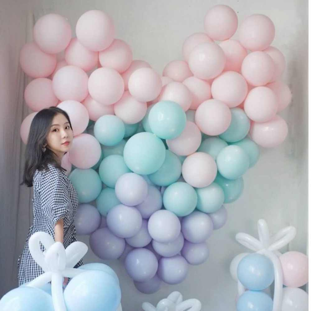 15pcs Baby blue/Pink Latex Helium Balloons 10inch Birthday Event Party Wedding Macaron Latex Mint Green Decor Baby Shower Ballon