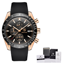 BENYAR men's watch luxury brand multi-function waterproof silicone strap sports
