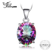 Brand New Hot Sale 3 5ct Genuine Rainbow Fire Mystic Topaz Concave Oval Pendant Necklace For