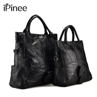 iPinee Large/Small Size Female Tote Bag Famous Designer Women Handbags Genuine Leather Free Shipping