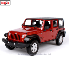 Maisto 1:24 Jeep-Wrangler car simulation alloy car model crafts decoration collection toy tools gift maisto 1 24 2017 chevrolet calvert simulation alloy car model crafts decoration collection toy tools gift