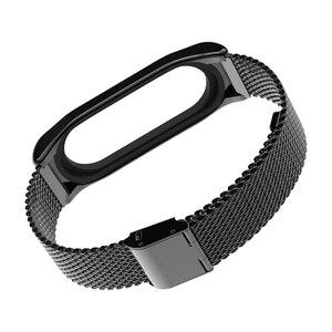 Image 5 - Mi jobs Metall Strap Für Xiao mi mi Band 3 Strap Schraubenlose Edelstahl Armband Armband Ersetzen Zubehör Für mi band 3