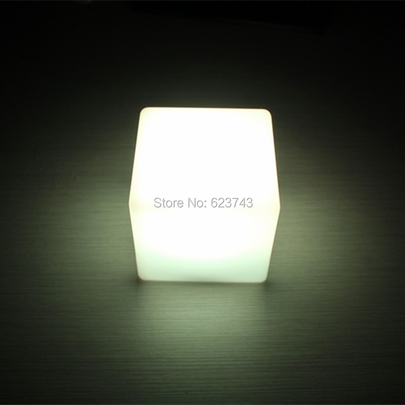 Free shipping 13CM Magic Dice CUBE LED illuminated bar table lamp waterproof rechargeable glowing led table night light semicircle rgb led illuminated furniture bar table lamps rechargeable night bar ktv lamp remote controller outdoor table lamp