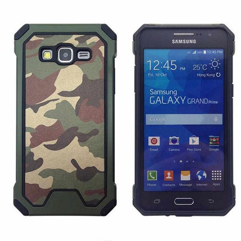e3b11e0ffcd Para Samsung Galaxy Grand Prime funda G530 G530M G531H G531F de alta resistencia  híbrida de camuflaje