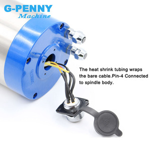 Image 5 - High quality! 2.2kw ER20 water cooled spindle motor 220v / 380v 4pcs bearings high accuracy 0.01mm longer type 80*230mm