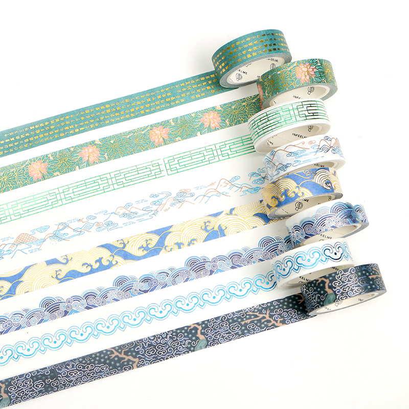 Washi Tape Cute Gold Foil Decorative Masking Tapes Great For Diy Arts And Crafts Projects, Planners, Scrapbooking,Bullet Journal