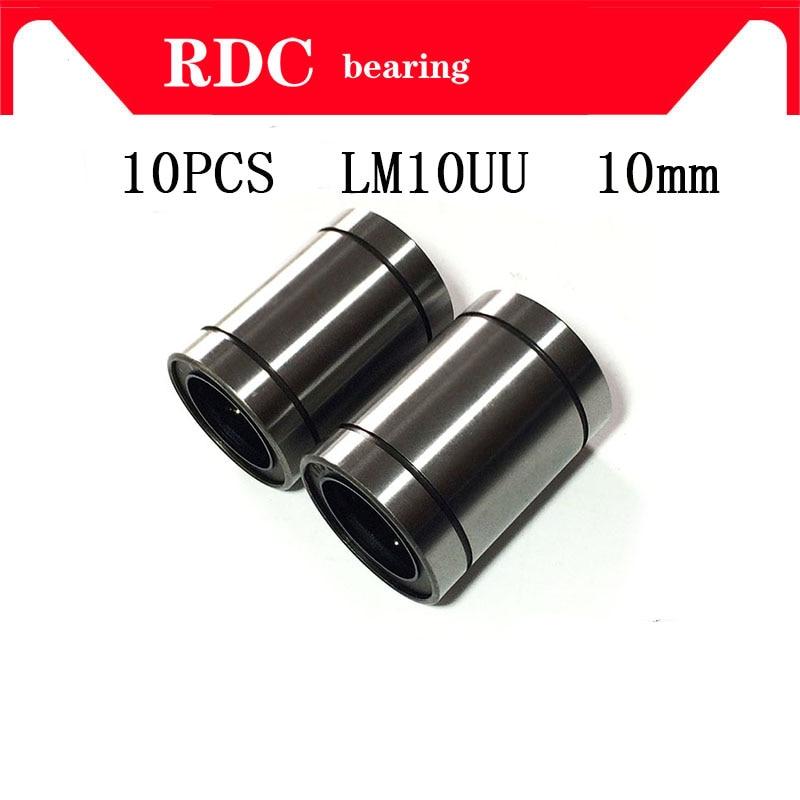 5788cf7f739 Free Shipping 10 pcs LM10UU LM10 High quality for 10mm shaft 10x19x29mm  Linear Ball Bearing Bush Bushing factory direct