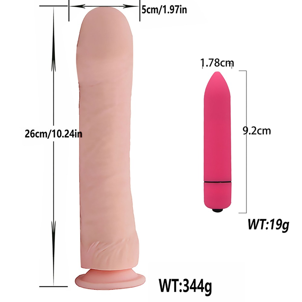 YEMA Huge Horse Realistic Big Dildo Vibrator Mini Bullet Vibrators for Women Mature Female Vagina Fullness Clitoris Massager 1