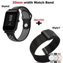 Купить с кэшбэком Silicone Bracelet Watchband Men Women 20mm Smart Watch Pulsera Correa Strap Metal Wrist Watch Band Quick Release WristStrap 20mm