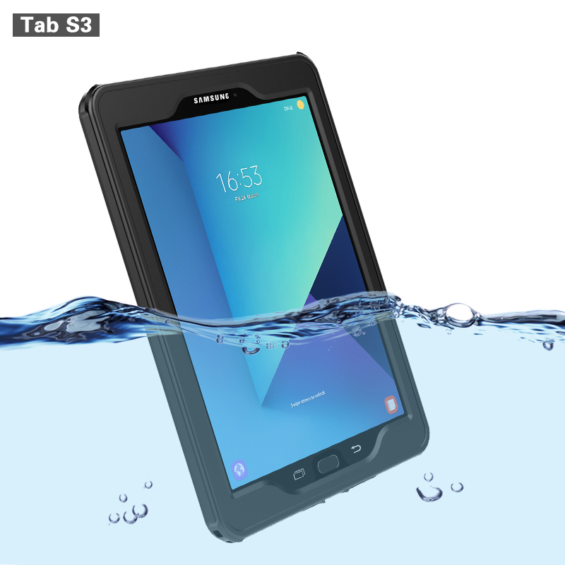 Waterproof Case for Samsung Galaxy Tab S3 Cases Transparent IP68 Waterproof Shockproof Cover Outdoor Diving Swimming for TabS3 ecvtop galaxy s6 edge case shockproof waterproof cover case pouch ipx68 underwater waterproof swimming diving box case for samsung galaxy s6 light blue