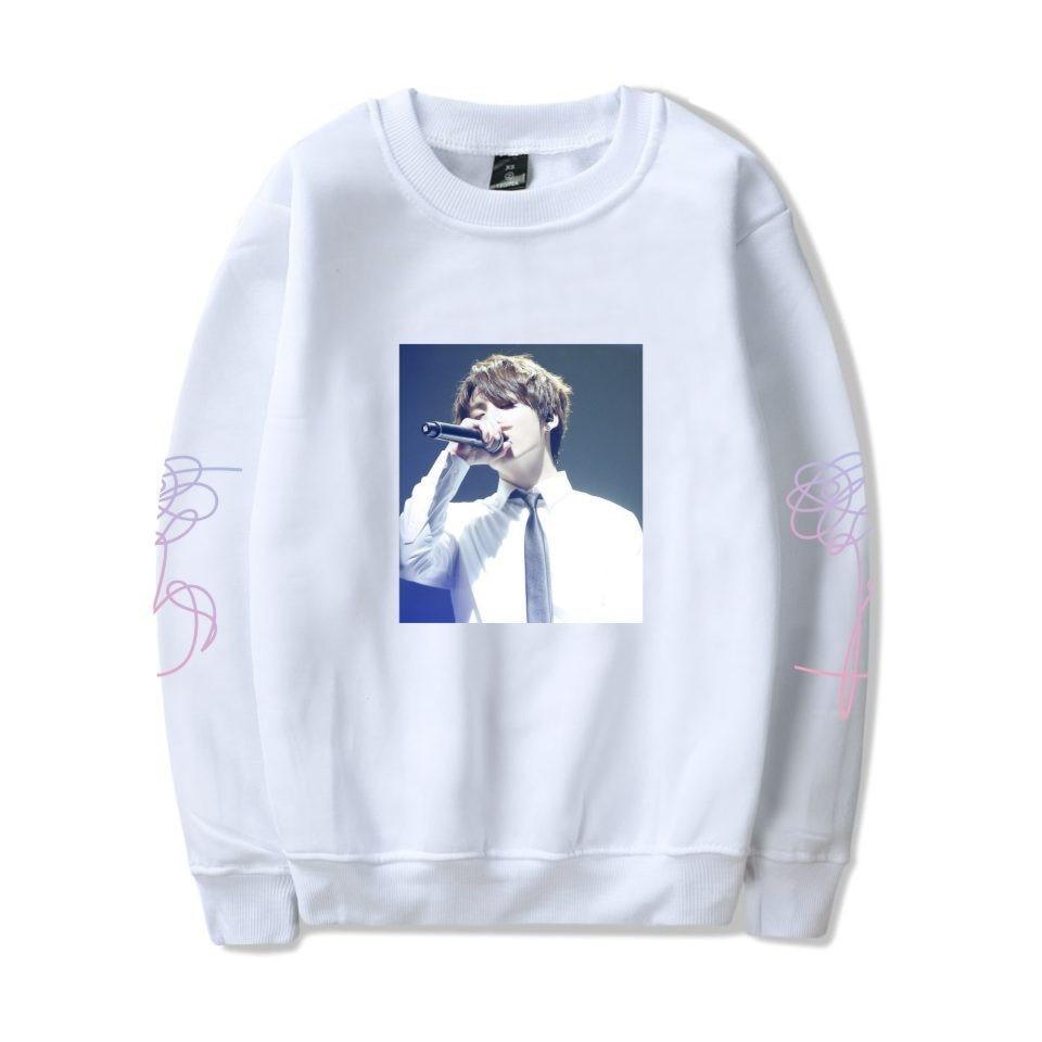 Frdun Tommy K-pop BTS Women Love Yourself BTS Stay Picture JUNG KOOK Capless Sweatshirt Hip Hop Female Fans Idol Closthes 4XL