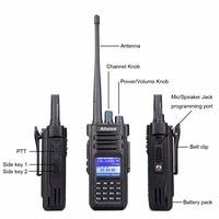 מכשיר הקשר Retevis Ailunce HD1 דיגיטלי מכשיר הקשר Dual Band DMR רדיו DCDM TDMA UHF VHF רדיו תחנת HF משדר עם כבל תוכנית (2)