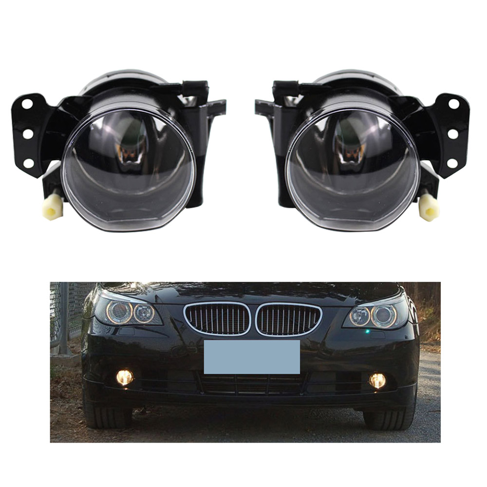 Front Bumper Left Right Front Fog Light Set For BMW 5 Series For BMW E60 04-06