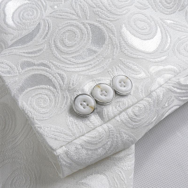 2018 Blazer Slim Fit Masculino Abiti Uomo Botton Wedding Prom Blazers Single button White For Men Stylish Suit Jacket 4XL EM061 5